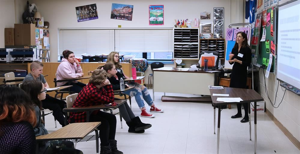 Career day at FJHS students listen to presentation